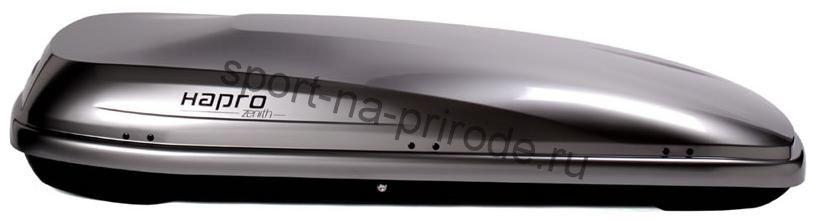 Бокс на крышу Zenith 6.5 192x82x37 390л серебристый (Easy Fit)