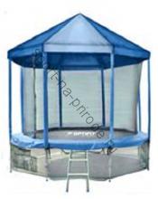 Батут OPTIFIT 16FT Like Blue с сеткой, лестницей и крышей