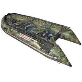 Лодка NISSAMARAN надувная, модель TORNADO 360, цвет зеленый-камуфляж (аллюм.пол) A/L