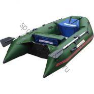 Лодка NISSAMARAN надувная, модель MUSSON 290, цвет зелёный  (дерев. пол) P/L