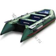 Лодка NISSAMARAN надувная, модель TORNADO 360, цвет зеленый (аллюм. пол) A/L