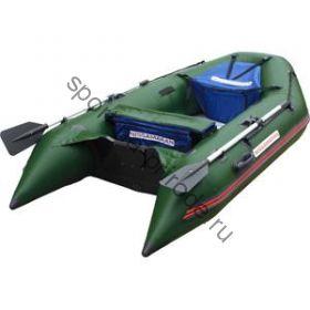 Лодка NISSAMARAN надувная, модель TORNADO 290, цвет зеленый  (аллюм. пол) A/L