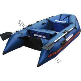 Лодка NISSAMARAN надувная, модель TORNADO 270, цвет синий  (аллюм. пол) A/L