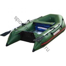 Лодка NISSAMARAN надувная, модель TORNADO 230, цвет зеленый  (аллюм. пол) A/L