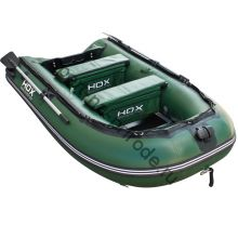 Лодка HDX надувная, модель CARBON 330 , цвет зелёный, (дерев. пол) P/L