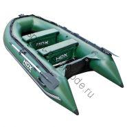 Лодка HDX надувная, модель CARBON 300 , цвет зелёный, (дерев. пол) P/L