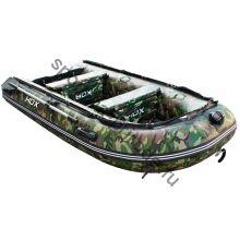 Лодка HDX надувная, модель CARBON 240 , цвет зелёный-камуфляж, (дерев. пол) P/L