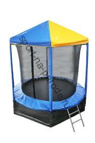 Батут OPTIFIT 8FT Like Blue с сеткой, лестницей и крышей