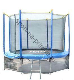 Батут OPTIFIT 16FT Like Blue с сеткой и лестницей