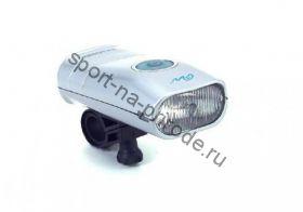 Передний фонарь WH-09H Halogen лампа, с крепежем, цв.серебр.