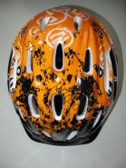 Велошлем детский с регулировкой размера. Цвет оранжевый.