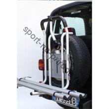 Крепление велосипеда на запас. колесо PERUZZO 4x4 Stelvio (2 вел.) сталь, с креплением за колеса (рельс)