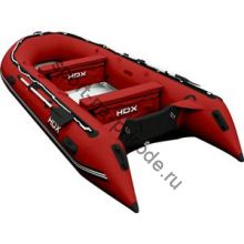 Лодка HDX надувная, модель OXYGEN 430 AL, цвет красный