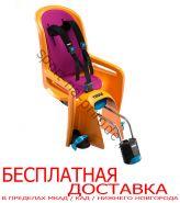 Детское велосипедное сидение RideAlong, оранж (вкладыш т.сер/фиол.)