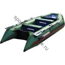 Лодка NISSAMARAN надувная, модель TORNADO 320, цвет зеленый (аллюм. пол) A/L