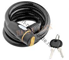 Спиральный кабельный замок, арт. HD715, 12*1200, на ключе