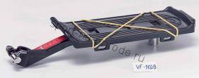 Багажник быстросъёмный  на подседельный штырь, на эксентрике, поддержка алюминиевый, цвет чёрный, в индивидуальной упаковке