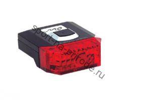 Задний фонарь MASTER RHL-10 красная линза, красные светоизлучающие диоды, 4 режима работы, с крепежем, цвет черный